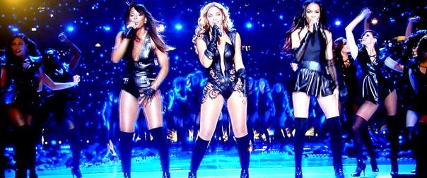 Beyonce y las ex integrantes de Destiny Child se presentaron durante el juego en New Orleans.