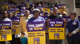 NYC Schools Cleaners and Handypersons Demand Equal Pay for Equal Work