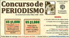 Concurso de periodismo en español con US $1,000 a los ganadores