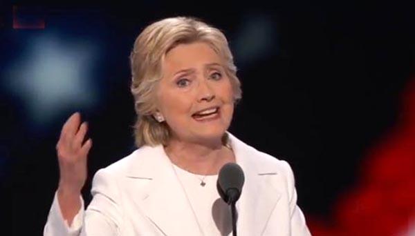 Hillary Clinton hace historia, llama a la unidad y critica a Trump