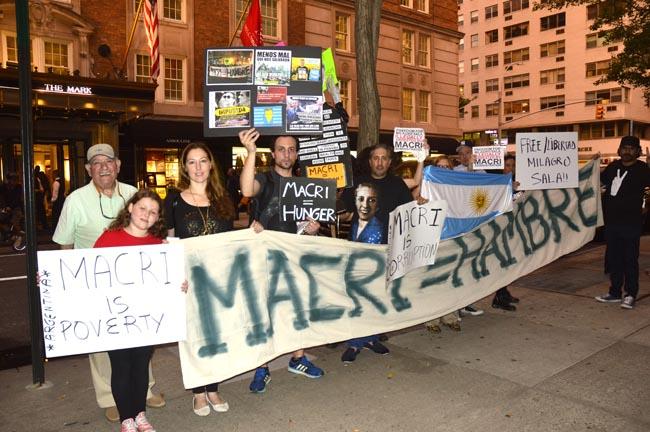 Argentinos en NY protestan contra su presidente Macri