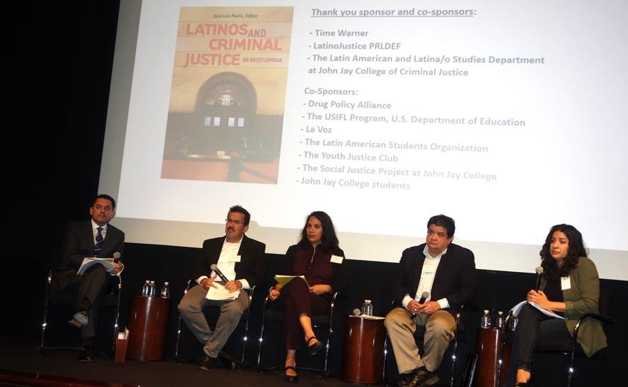 El panel sobre inmigración y crimen relacionado al lanzamiento del libro Latinos and Criminal Justice, by José