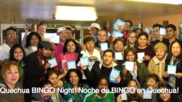 Bingo en Quechua este lunes 21 de noviembre en Queens