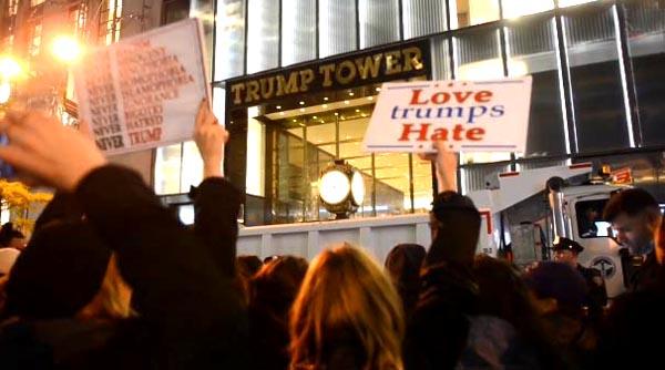 Siguen protestas en contra del presidente Trump