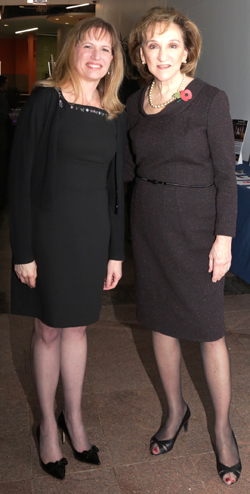 Vaughn College President Dr. Sharon B. DeVivo, left, with Rolls-Royce North America President and Chief Executive Officer Marion C. Blakey at the Vaughn College Gala on Thursday, November 10. Photo courtesy