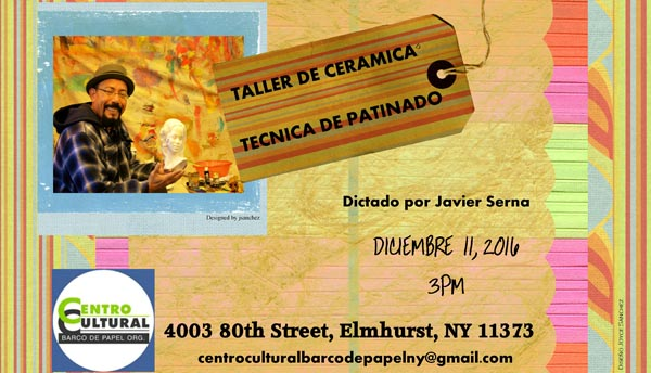 Barco de Papel ofrece taller gratis de cerámica bizcocho este domingo 11 de diciembre