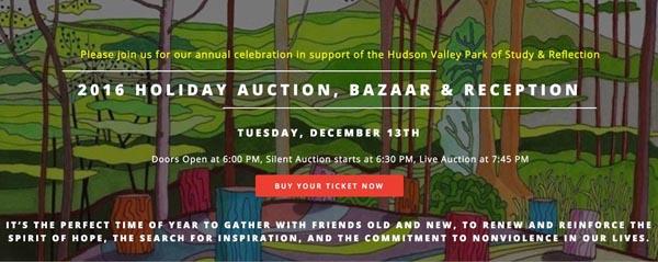 Subasta para apoyar el Hudson Valley Park este martes 13 de diciembre