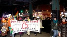 Marcha en la Avenida Roosevelt en defensa de inmigrantes