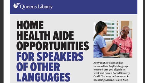 Bibliotecas de Queens capacitan en español para atender personas en sus hogares