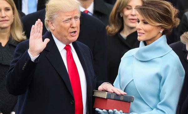Donald Trump jura como presidente 45 de los Estados Unidos