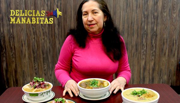 Ximena Moreira del restaurante Delicias Manabitas: 'Vendiendo sopas manabitas  saque adelante a mis hijas'