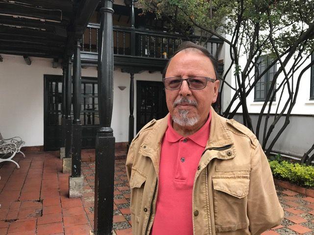 Luis Franco en el Museo Botero de Bogotá.