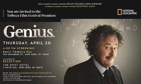National Geographic presenta Genius: la vida del científico Albert Einstein