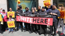 NYC Food Service Workers Announce May Day Actions Against President Trump