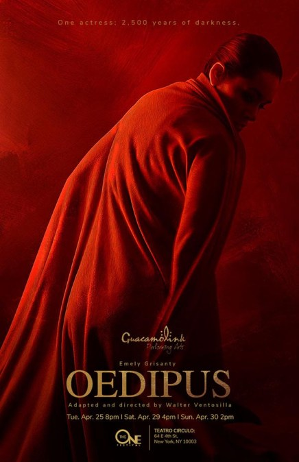 The One Festival Presents Oedipus at Teatro Círculo April 25, 29 & 30