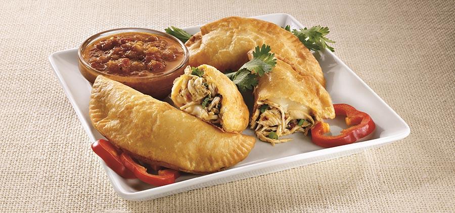 Empanadas estilo Pollo Campero. Foto cortesía