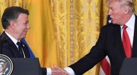 Santos y Trump en la Casa Blanca