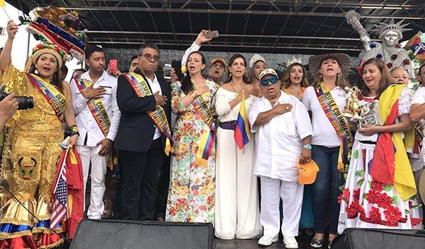 Desfile colombiano de NY por la paz de Colombia