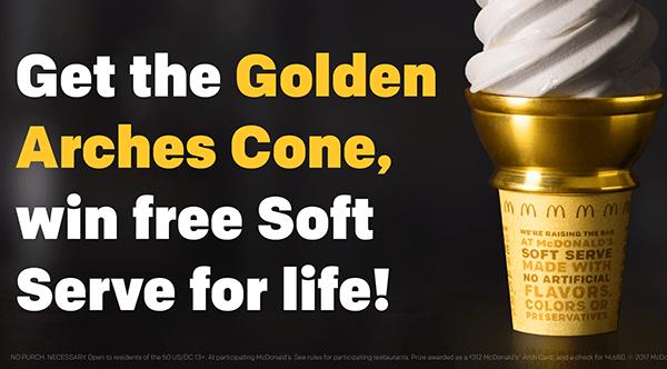 McDonald's ofrece helados de cono gratis el domingo 16 de julio