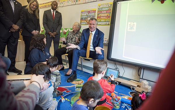 NYC Mayor de Blasio and School Chancellor Fariña Announce Expansion of 3-K For All