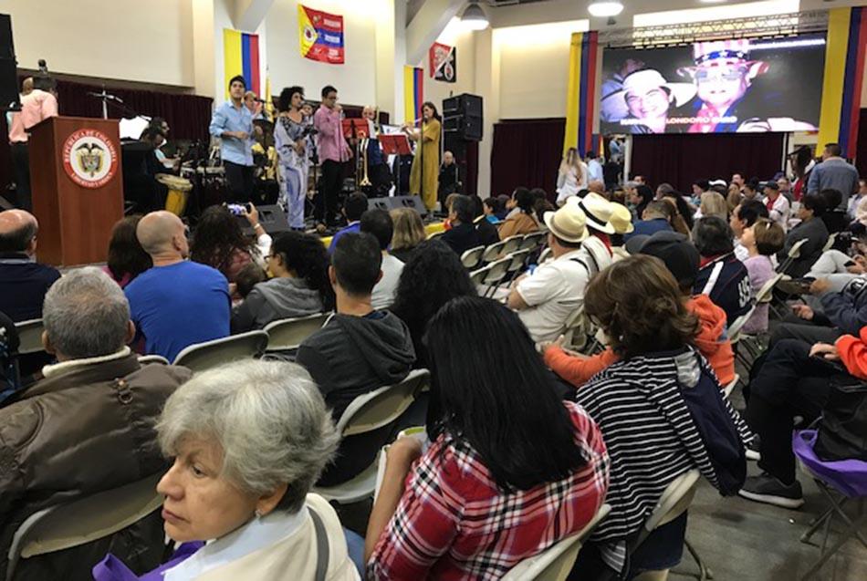 La Orquesta Folklore Urbano de Pablo Mayor entreteniendo a los asistentes.