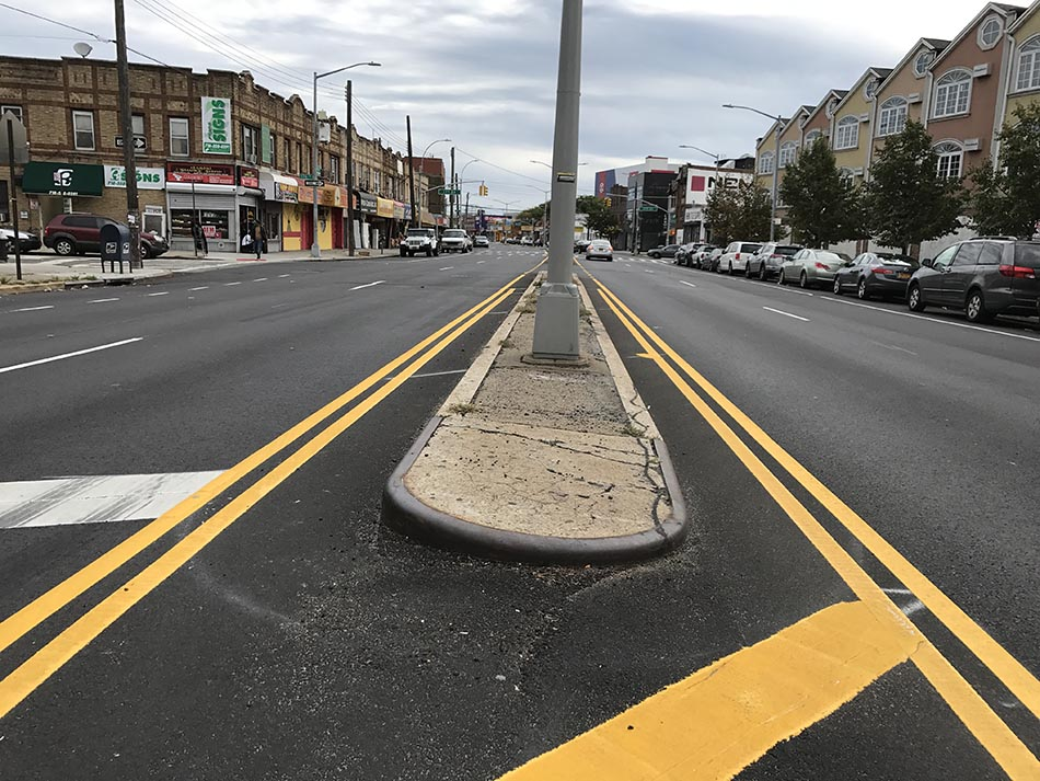 The new Jamaica Avenue in Queens.