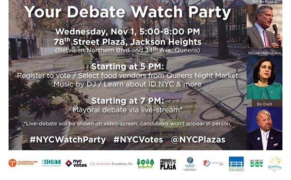Vea el debate de los 3 candidatos a la Alcaldía de NY en el parque de la calle 78 este miércoles 1 de noviembre