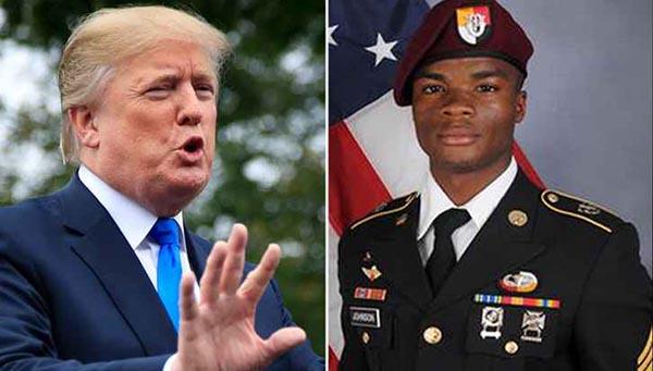 Presidente Trump dice que no insultó memoria de soldado asesinado en Niger