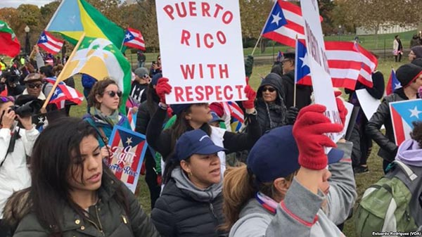 Marcha en Washington por Puerto Rico