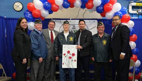 Spectrum and HISTORY® Bring Veterans to P.S. 47 in Broad Channel  as Part of 'Take a Veteran to School Day'