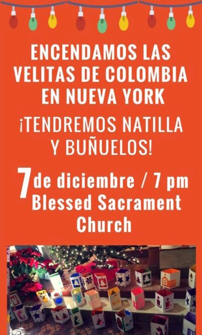 Consulado de Colombia invita a celebrar el Día de las Velitas el jueves 7 de diciembre en Queens