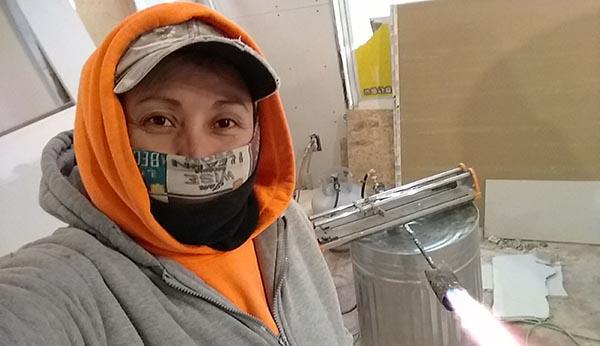 Inés Arévalo trabaja en construcción en Nueva York