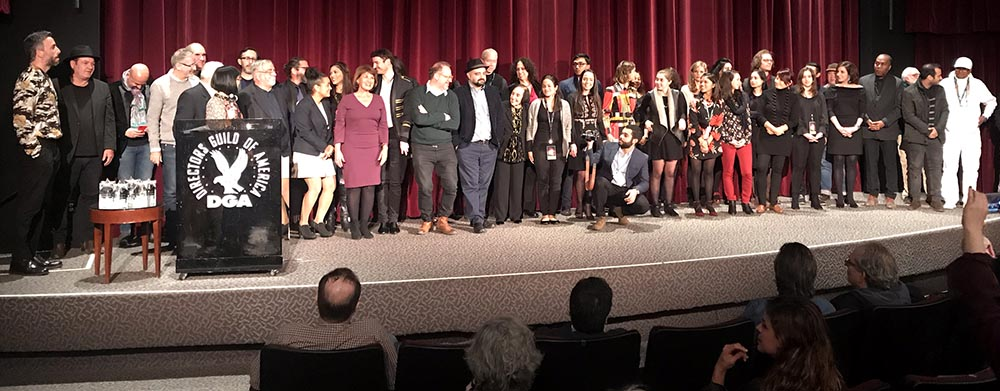 Directores y voluntarios del Havana Film Festival NY durante la ceremonia de clusura en Manhattan. Foto Javier Castaño