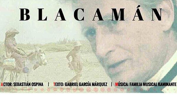 Actor Sebastían Ospina con Blacamán en Consulado de Colombia