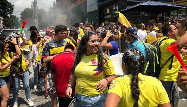 Colombia avanza en Mundial y celebran en Nueva York