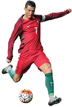 Ronaldo es un atleta rápido, dinámico e inteligente.