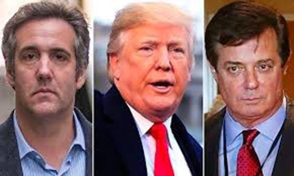 Presidente Trump se hunde por ex abogado y jefe de campaña