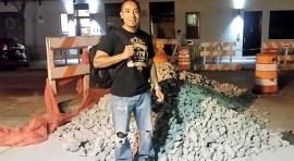 Albañil Jorge F. Neri mantiene su cultura y construye sueños