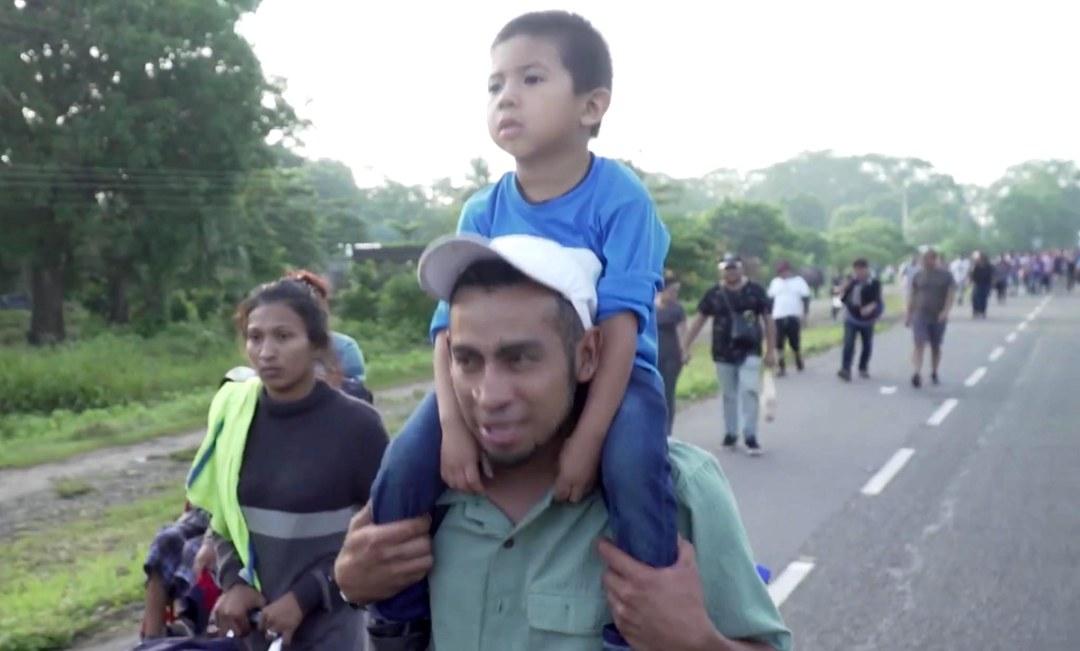 La caravana es grito de desesperación del pueblo hondureño