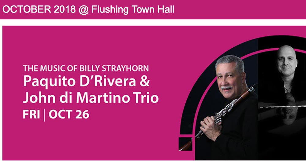 Flushing Town Hall Paquito D'Rivera