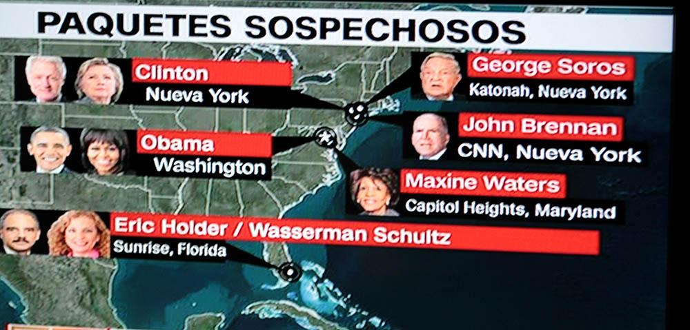Algunas de las personas que han recibido los paquetes sospechosos en el este de los Estados Unidos.