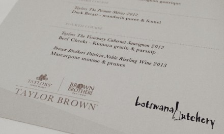 Taylors Wines and Brown Brothers Wines Dinner