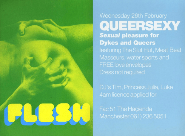 Flesh flyer, 1992. Source: Manchester District Music Archive