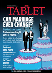 Tablet magazine cover featuring gay marriage discussion
