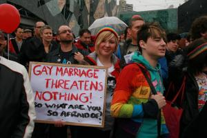 gay marriage threatens nothing, so what are you so scared of?