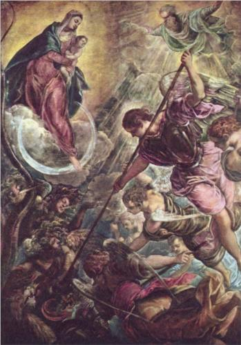 battle-of-the-archangel-michael-and-the-satan.jpg, Tintoretto