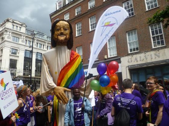 Rainbow Jesus, at London Pride