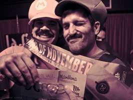 los ganadores del primer Mister Movember gallego