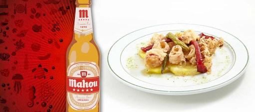 Cervezería Imperial. Calamares a la romana con pimientos... (c/ Colombia 24)