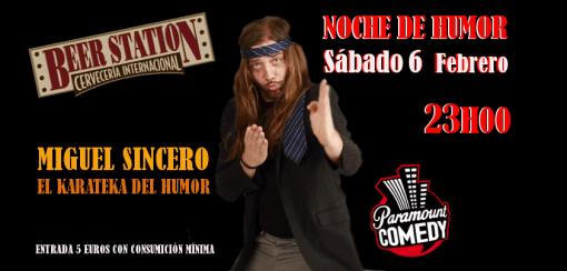 Miguel Sincero, el karateka del humor